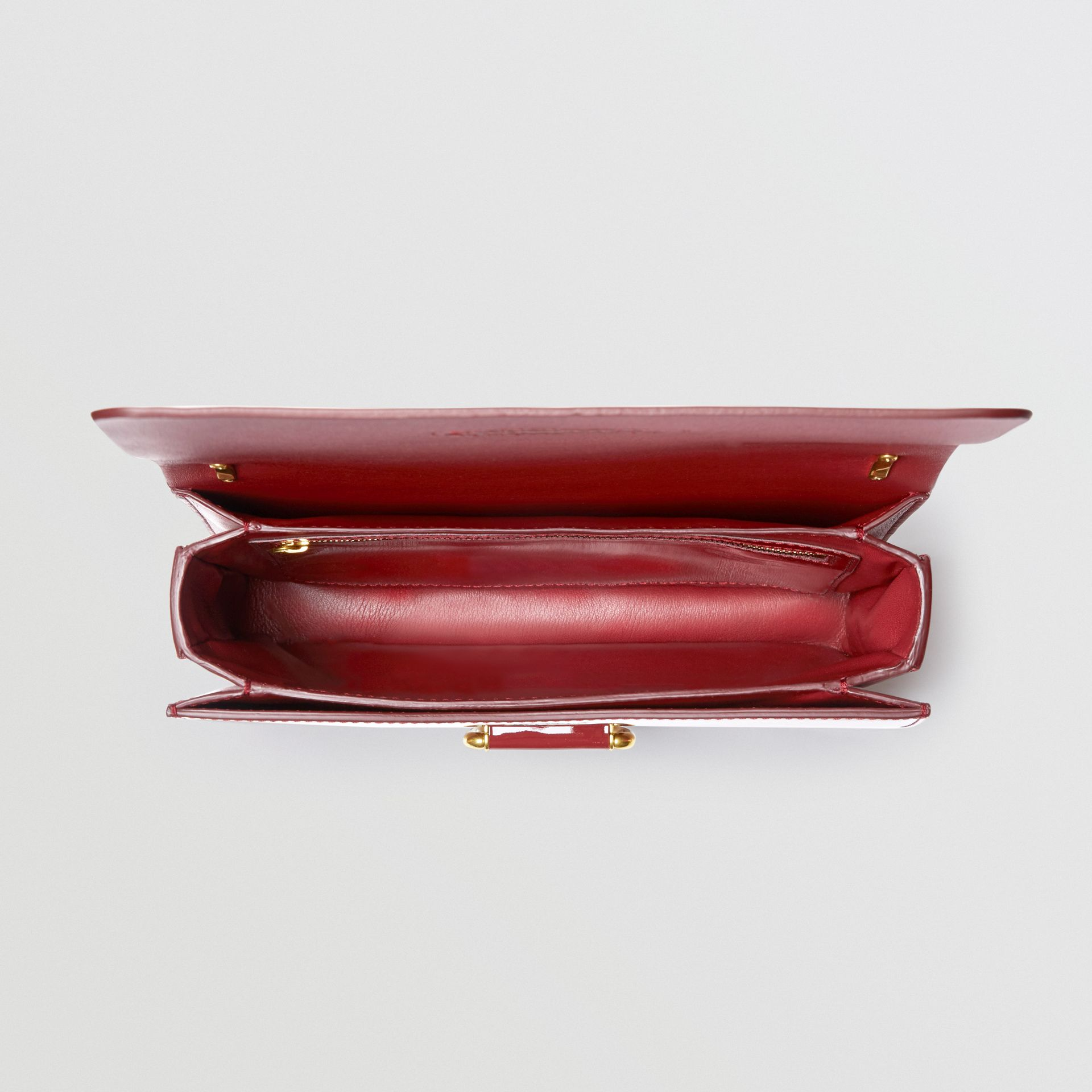 The Medium Patent Leather D-ring Bag in Crimson - Women | Burberry - gallery image 5