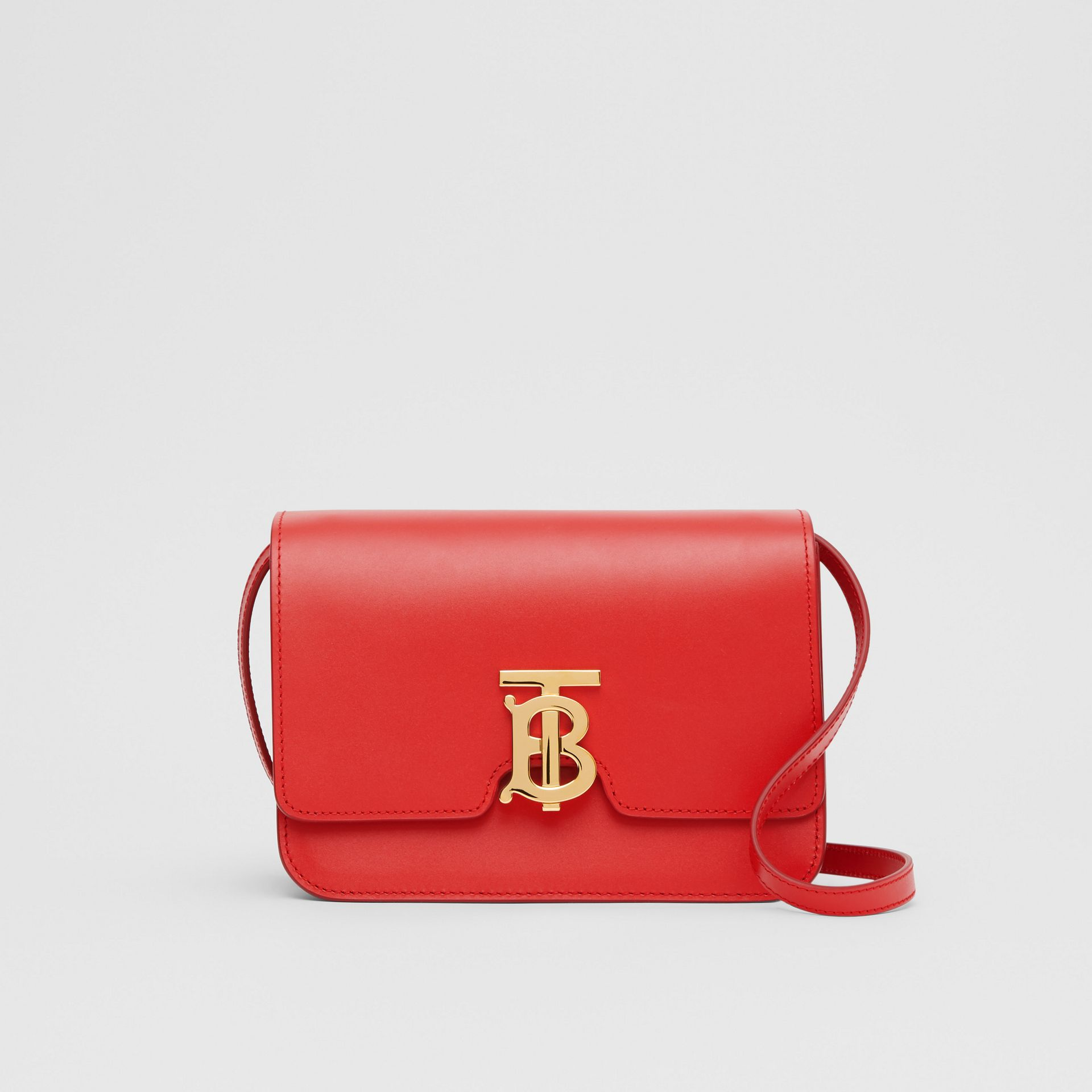 Small Leather TB Bag in Bright Red - Women | Burberry United Kingdom - gallery image 0