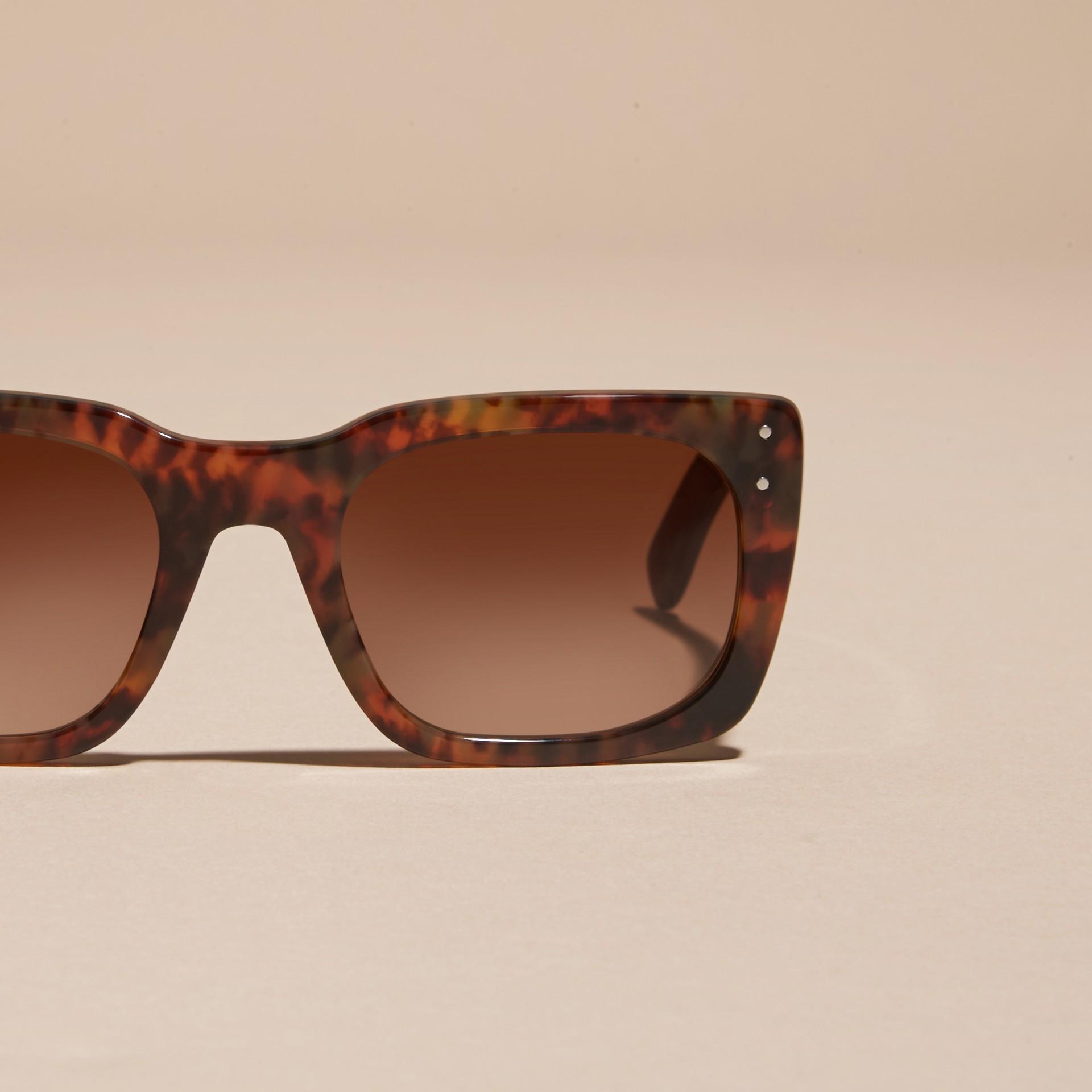 Tortoise shell Square Frame Sunglasses Tortoise Shell - gallery image 3
