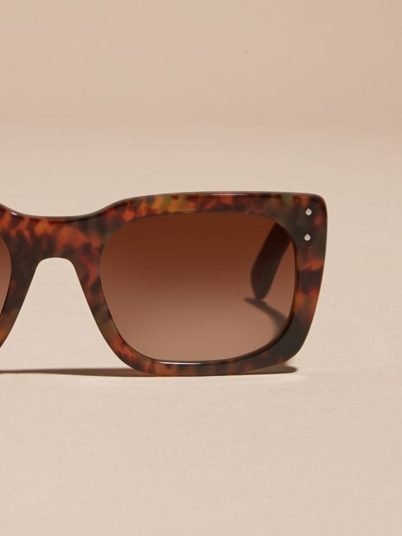 Tortoise shell Square Frame Sunglasses Tortoise Shell - cell image 2