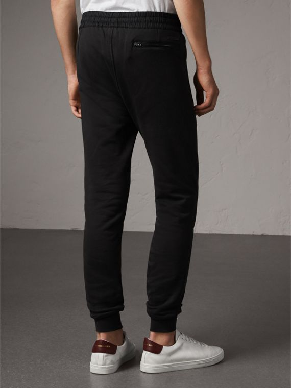 Cotton Sweatpants in Black - Men | Burberry Australia - cell image 2