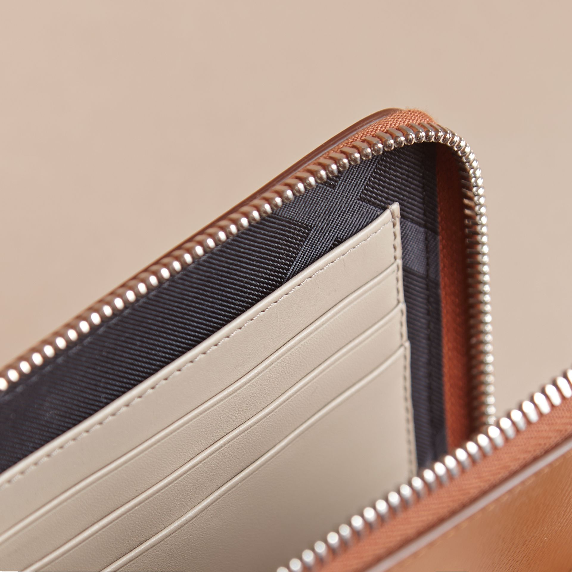 London Leather Travel Wallet in Tan | Burberry - gallery image 6