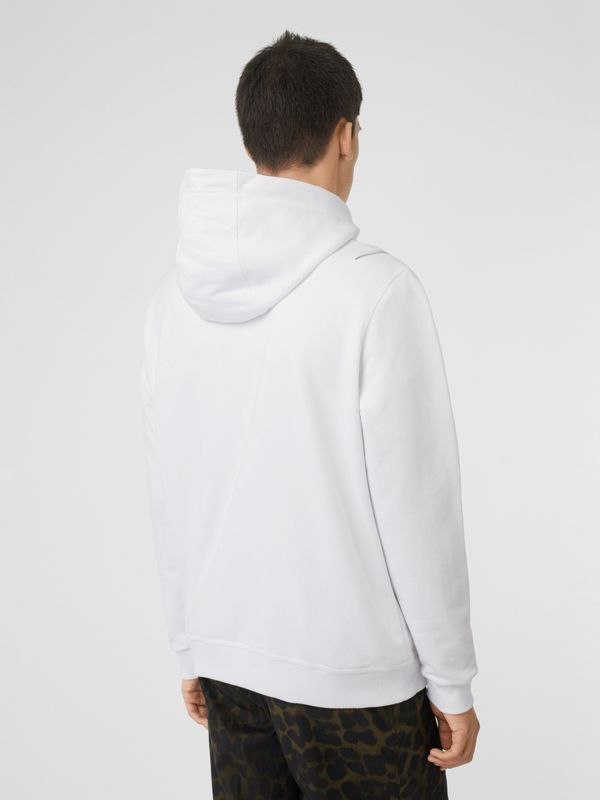 Unicorn Print Cotton Hoodie in White - Men | Burberry Australia - cell image 2