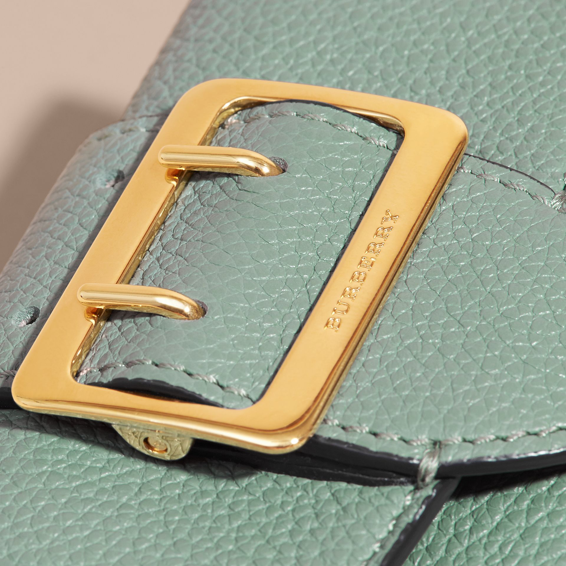 Buckle Detail Leather Card Case - gallery image 2