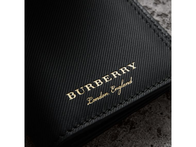 Trench Leather Continental Wallet in Black - Men | Burberry United States - cell image 1