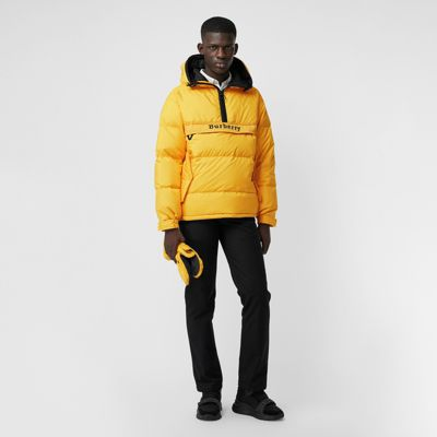 Down-Filled Anorak With Detachable Mittens, Bright Yellow
