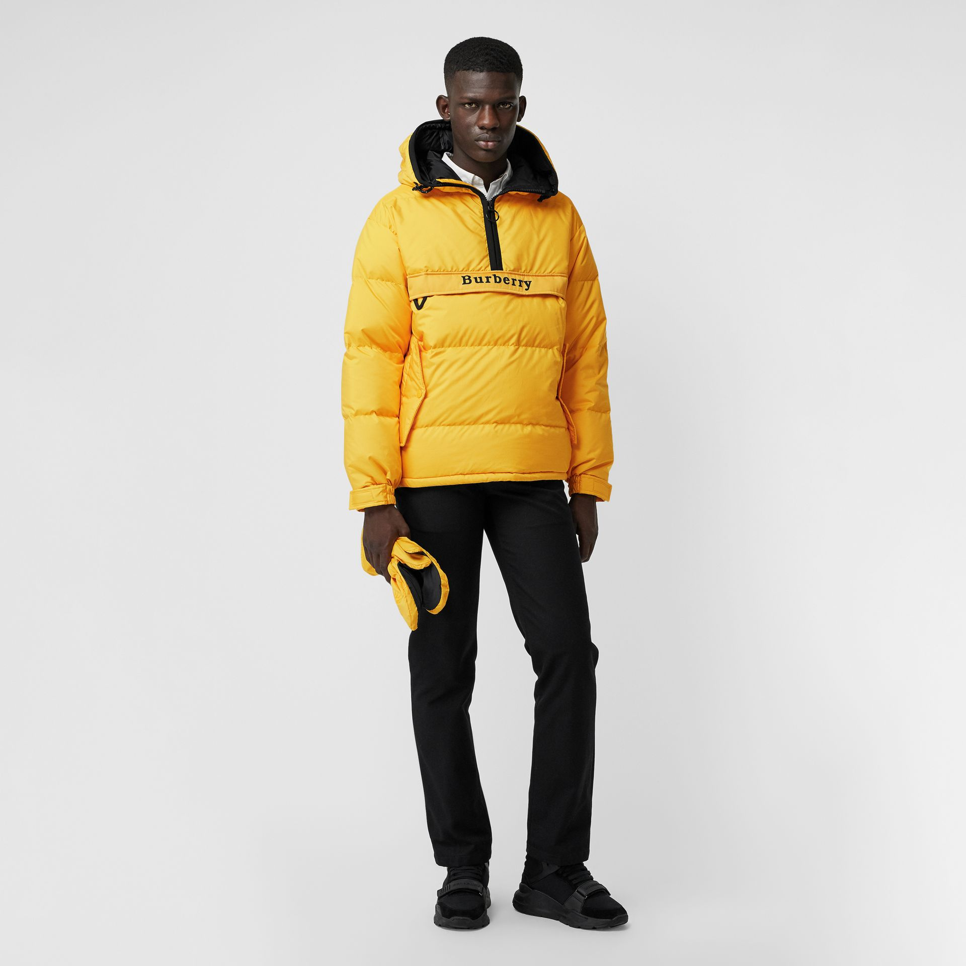 Down-filled Anorak with Detachable Mittens in Bright Yellow - Men | Burberry United Kingdom - gallery image 0