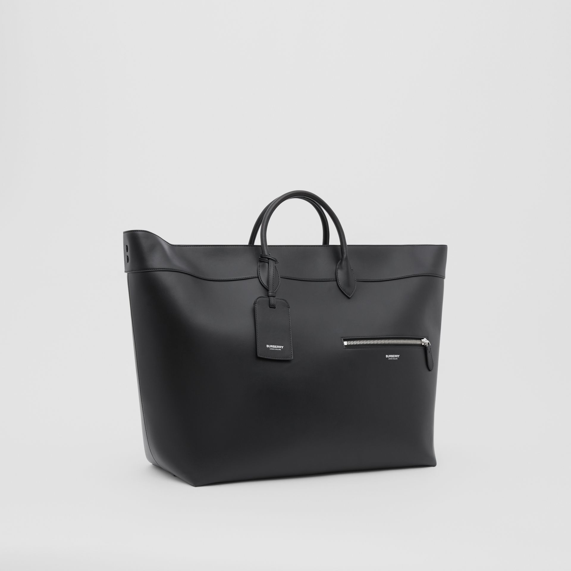 Leather Holdall in Black - Men | Burberry Australia - gallery image 6