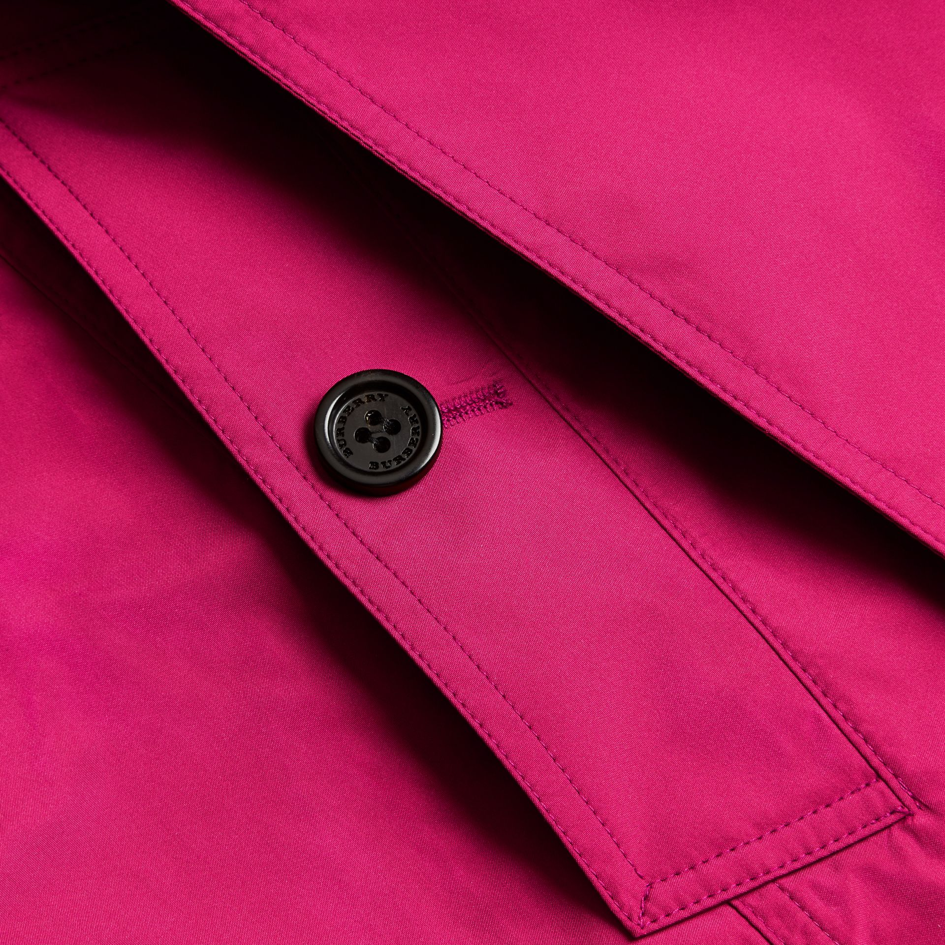 Mid-length Technical Trench Coat Damson Magenta - gallery image 2