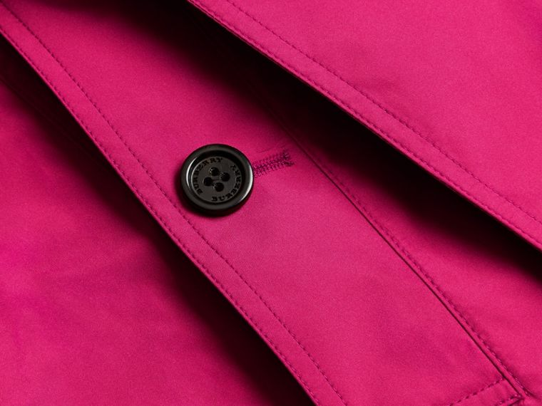 Mid-length Technical Trench Coat Damson Magenta - cell image 1