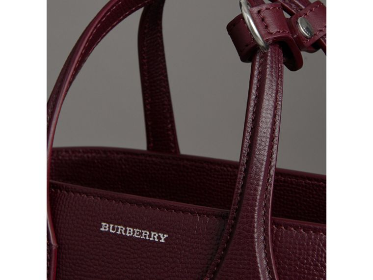 The Small Banner in Leather in Mahogany Red - Women | Burberry - cell image 1