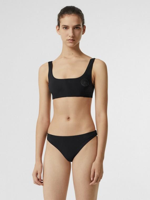 Crest Detail Bikini in Black