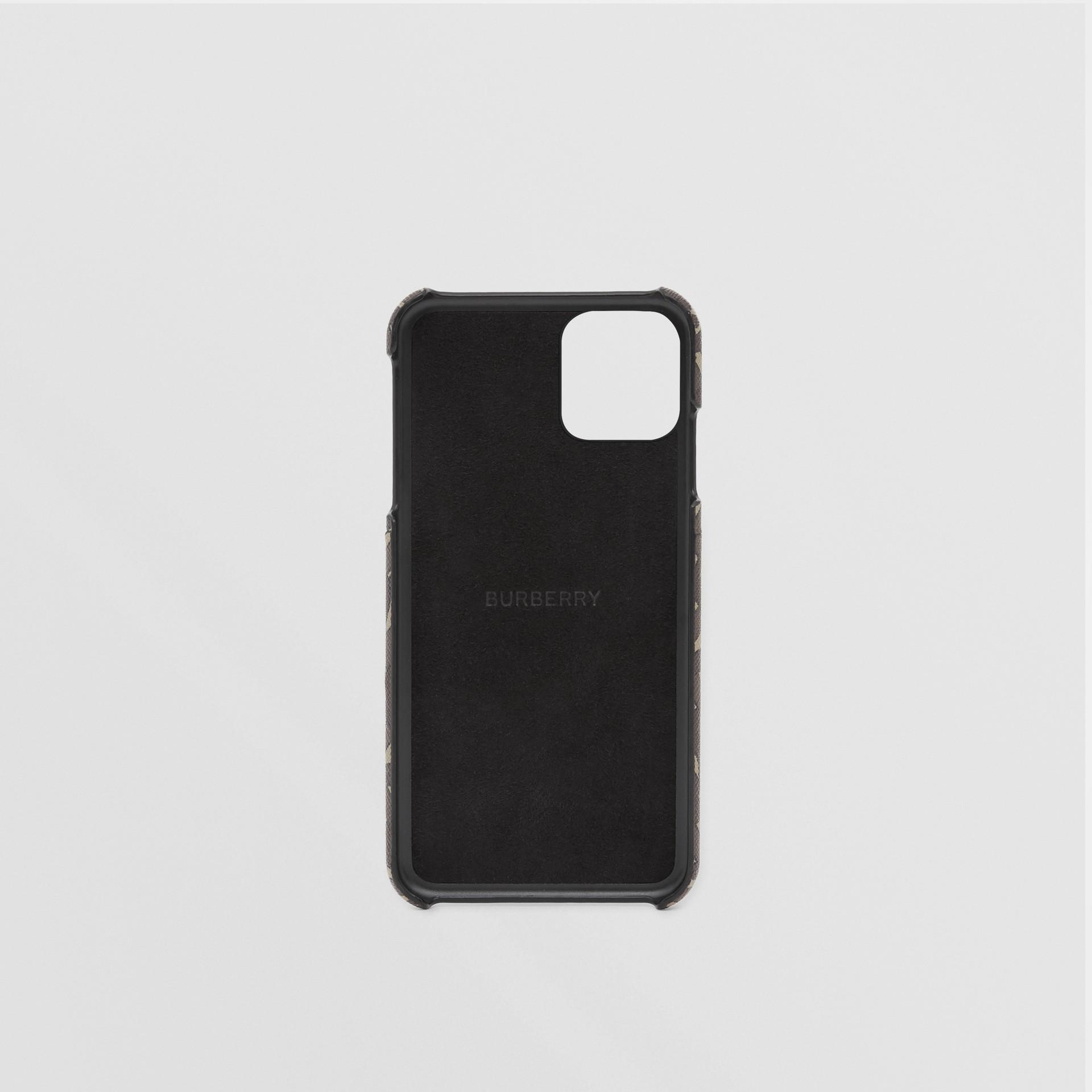 모노그램 프린트 E-캔버스 아이폰 11 프로 케이스 (브라이들 브라운) - 남성 | Burberry - 갤러리 이미지 3