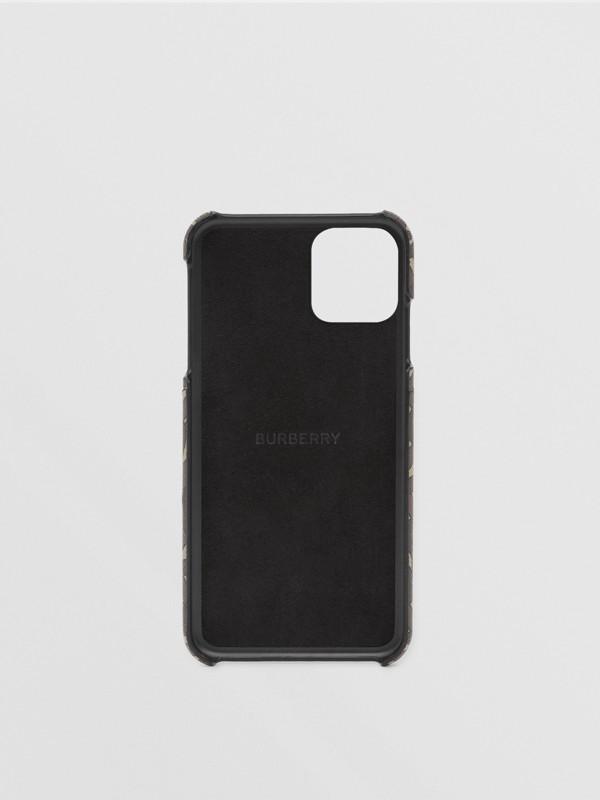 모노그램 프린트 E-캔버스 아이폰 11 프로 케이스 (브라이들 브라운) - 남성 | Burberry - cell image 3