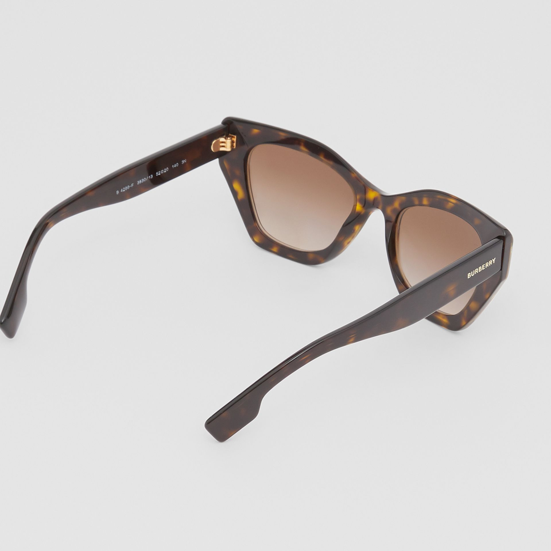 Butterfly Frame Sunglasses in Tortoiseshell - Women | Burberry - gallery image 3