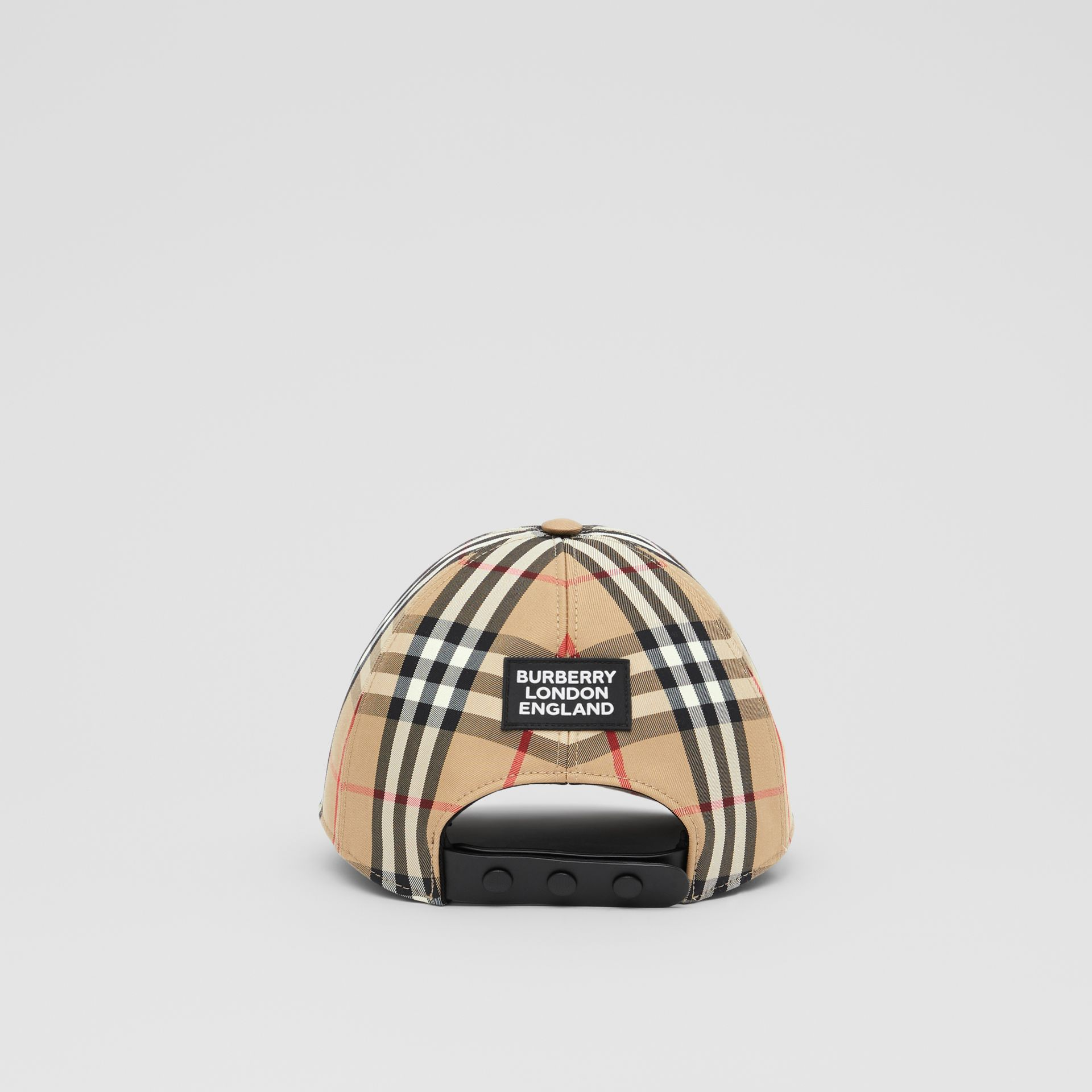Logo Appliqué Vintage Check Baseball Cap in Archive Beige | Burberry United Kingdom - gallery image 5