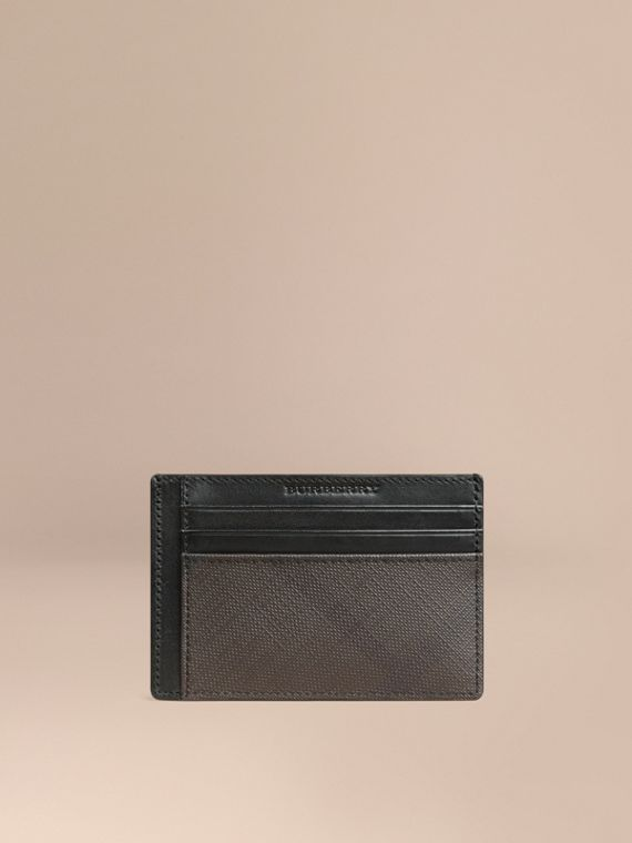 London Check Card Case in Chocolate/black - Men | Burberry