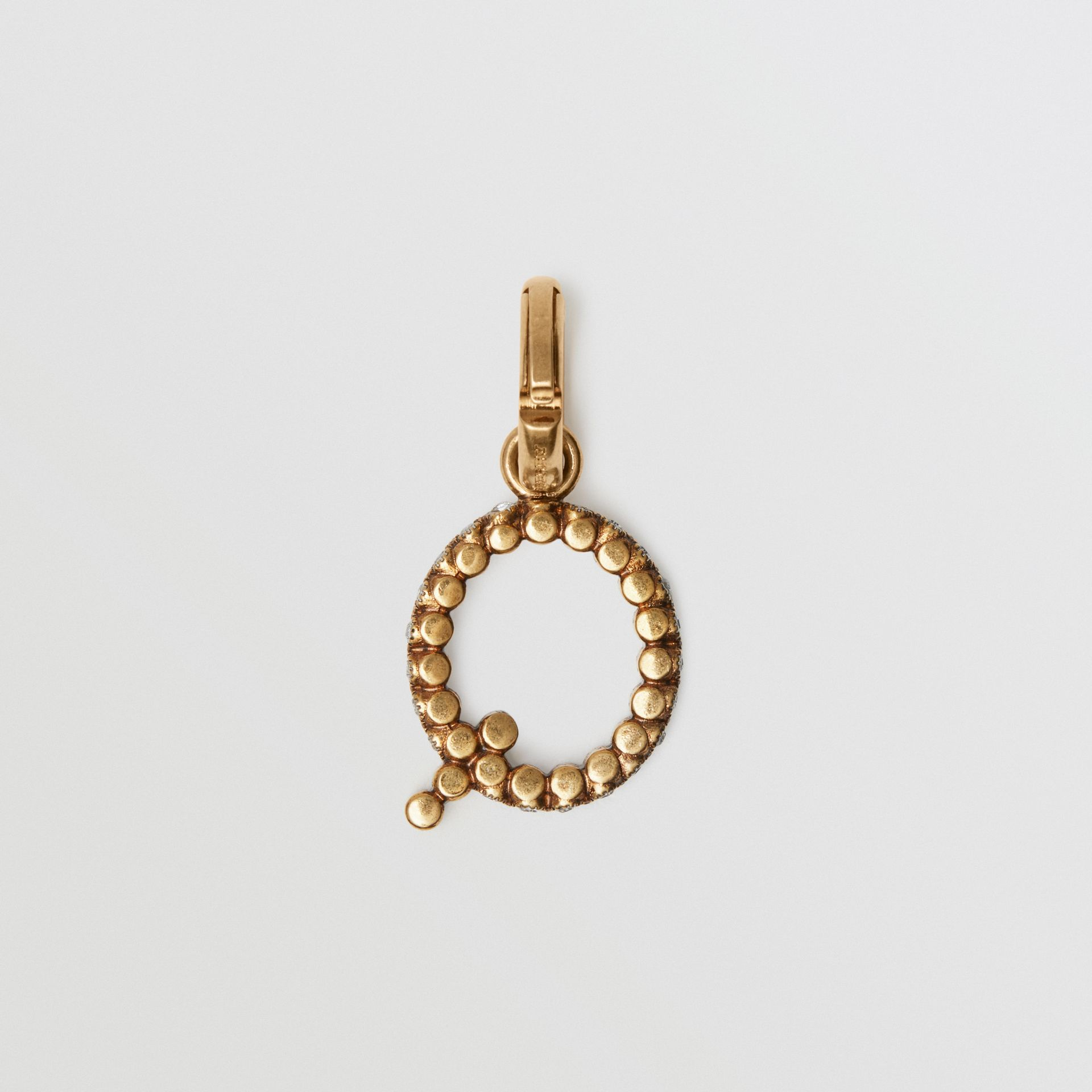 Crystal 'Q' Alphabet Charm - Women | Burberry United Kingdom - gallery image 3