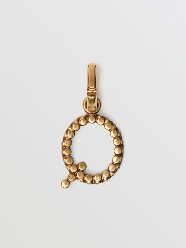 Crystal 'Q' Alphabet Charm - Women | Burberry United Kingdom - cell image 3