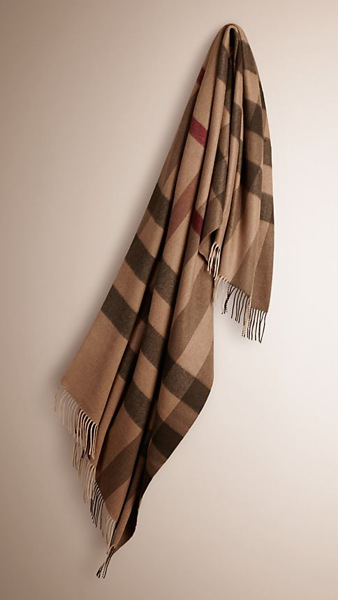 Smoked check trench Check Cashmere Blanket Smoked  Trench - Image 1