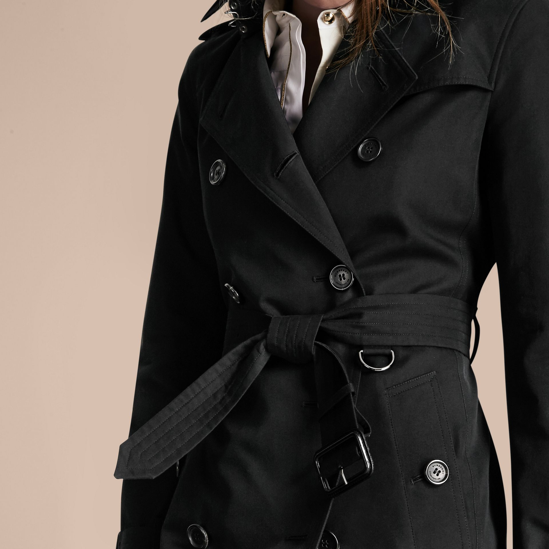 Nero The Kensington - Trench coat Heritage medio Nero - immagine della galleria 7