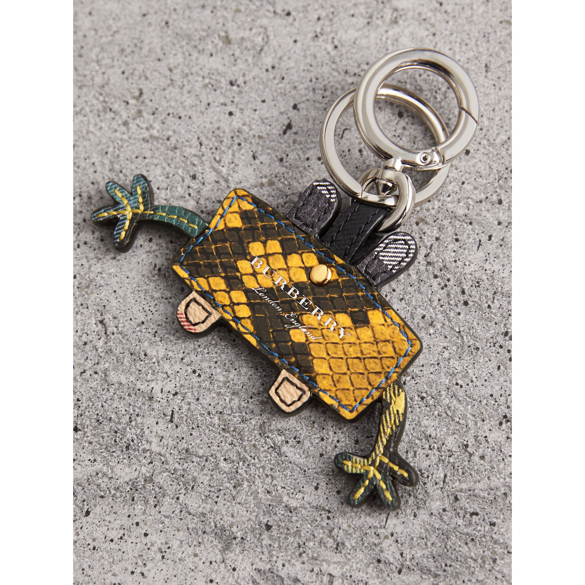 Creature Motif Python Print Key Ring in Bright Toffee - Men | Burberry - gallery image 3