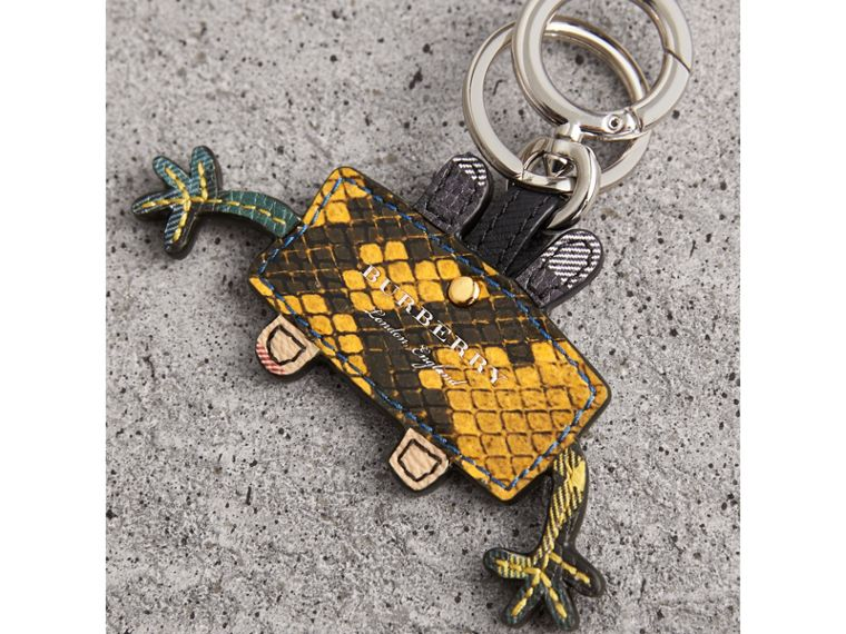 Creature Motif Python Print Key Ring in Bright Toffee - Men | Burberry - cell image 2
