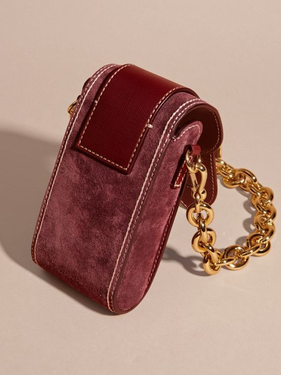 Mahogany red The Buckle Bag – Oblong in Suede - cell image 3