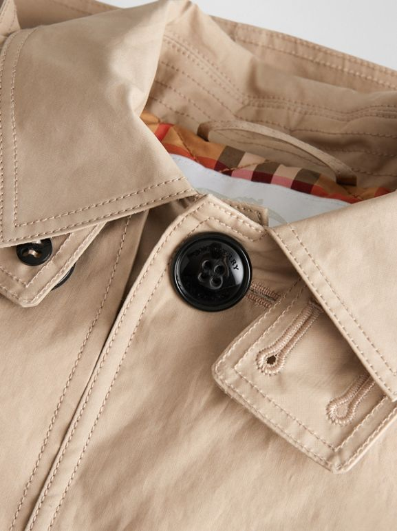 Detachable Hood Cotton Car Coat in Honey | Burberry United States - cell image 1