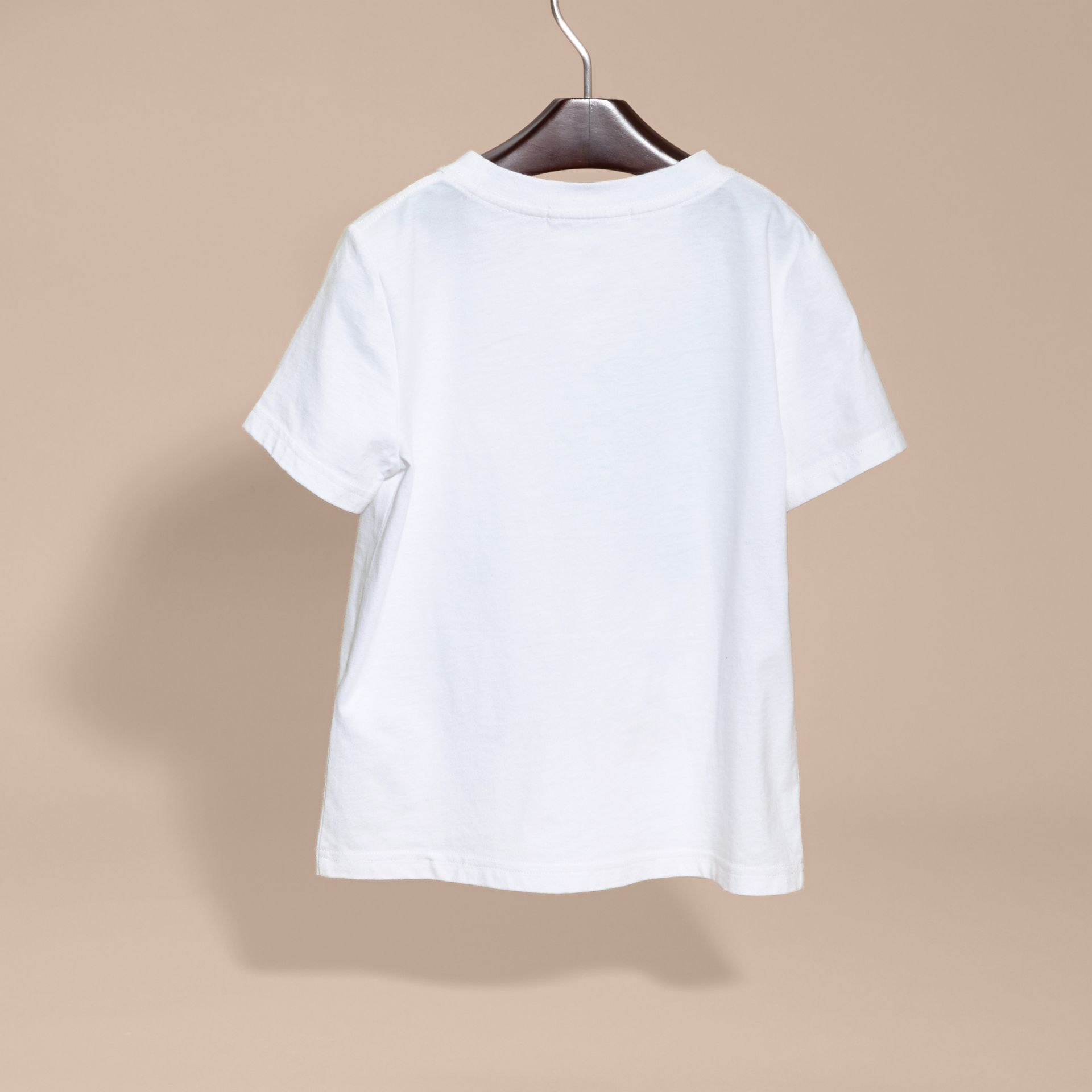 White Use Your Head Graphic Cotton T-shirt - gallery image 4
