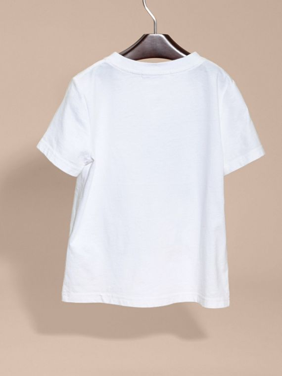 White Use Your Head Graphic Cotton T-shirt - cell image 3
