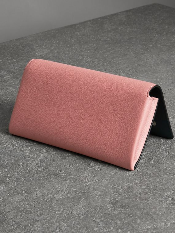 Two-tone Leather Continental Wallet in Dusty Rose - Women | Burberry United Kingdom - cell image 2