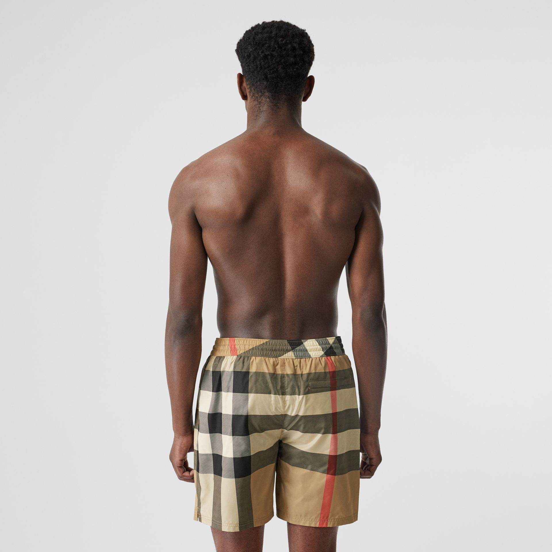 Check Drawcord Swim Shorts in Archive Beige - Men | Burberry United Kingdom - gallery image 1
