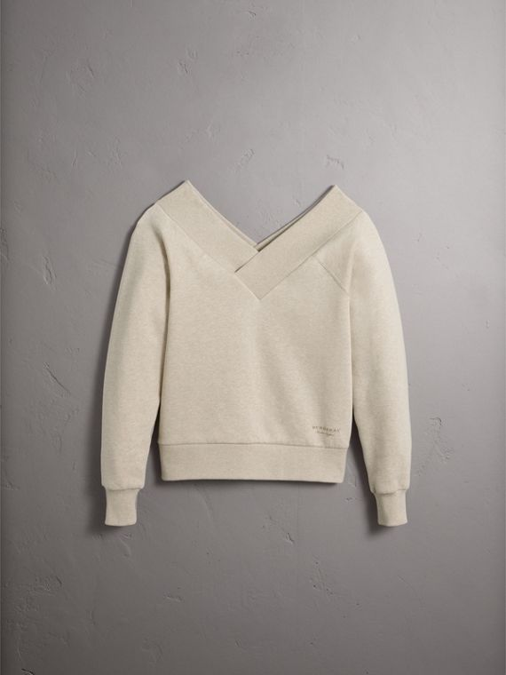 Off-the-shoulder Sweatshirt - Women | Burberry - cell image 3