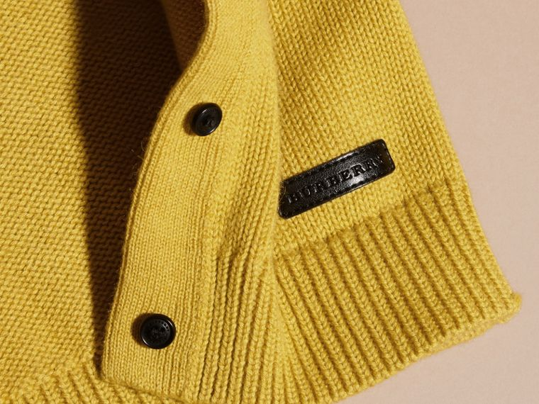 Ochre yellow Cashmere Cotton Cardigan Ochre Yellow - cell image 1