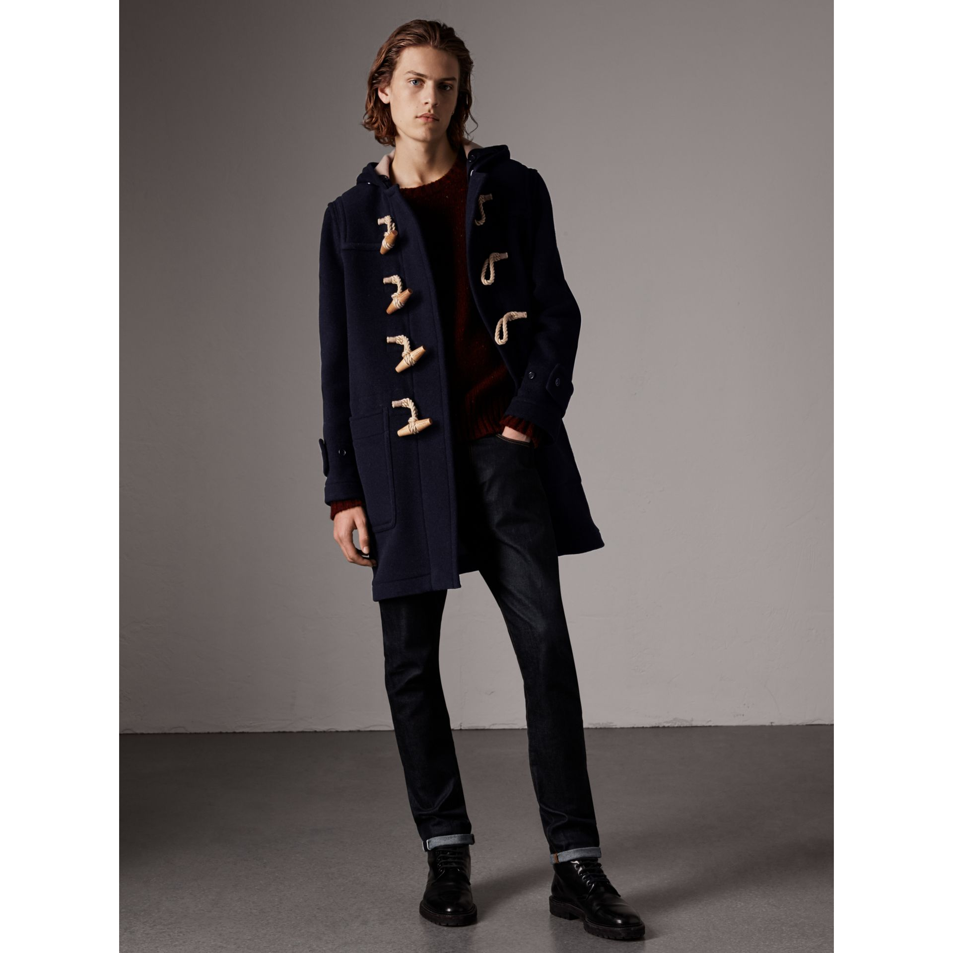 The Greenwich Duffle Coat in Navy - Men | Burberry Singapore - gallery image 1