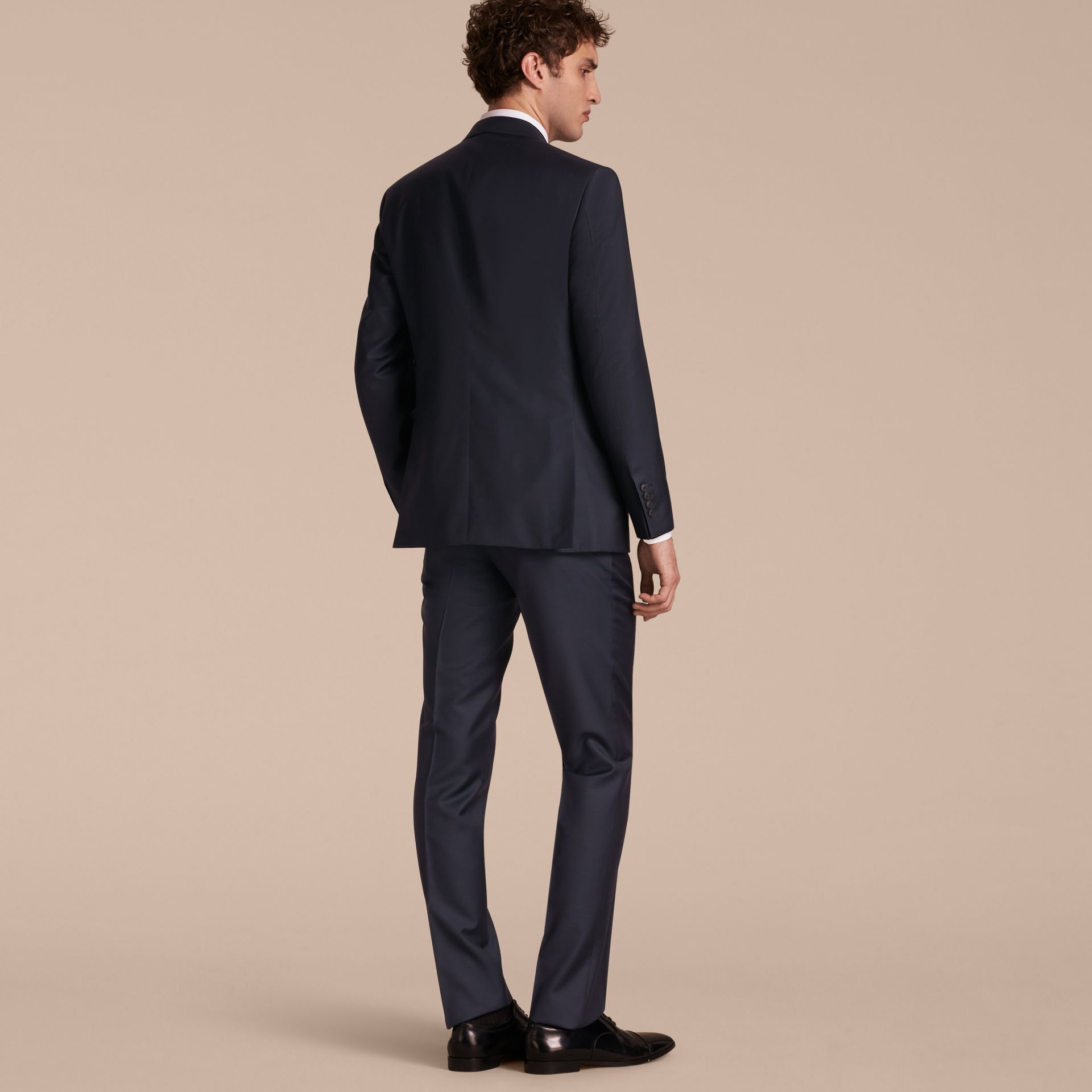 Modern Fit Wool Silk Full-canvas Suit - gallery image 3
