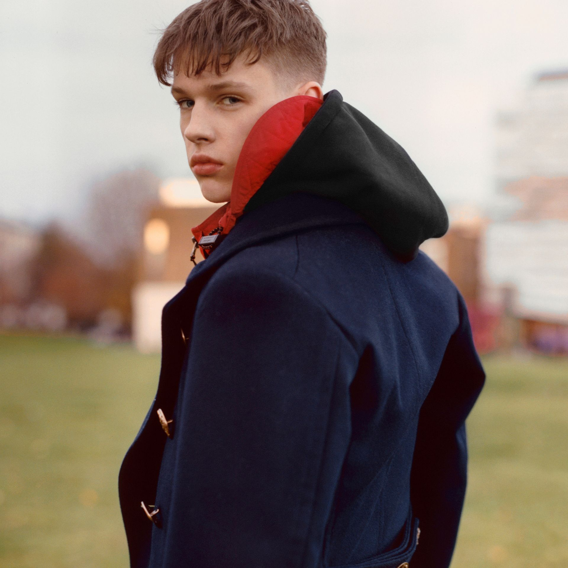 Packaway Hood Shape-memory Taffeta Jacket in Military Red - Men | Burberry - gallery image 7