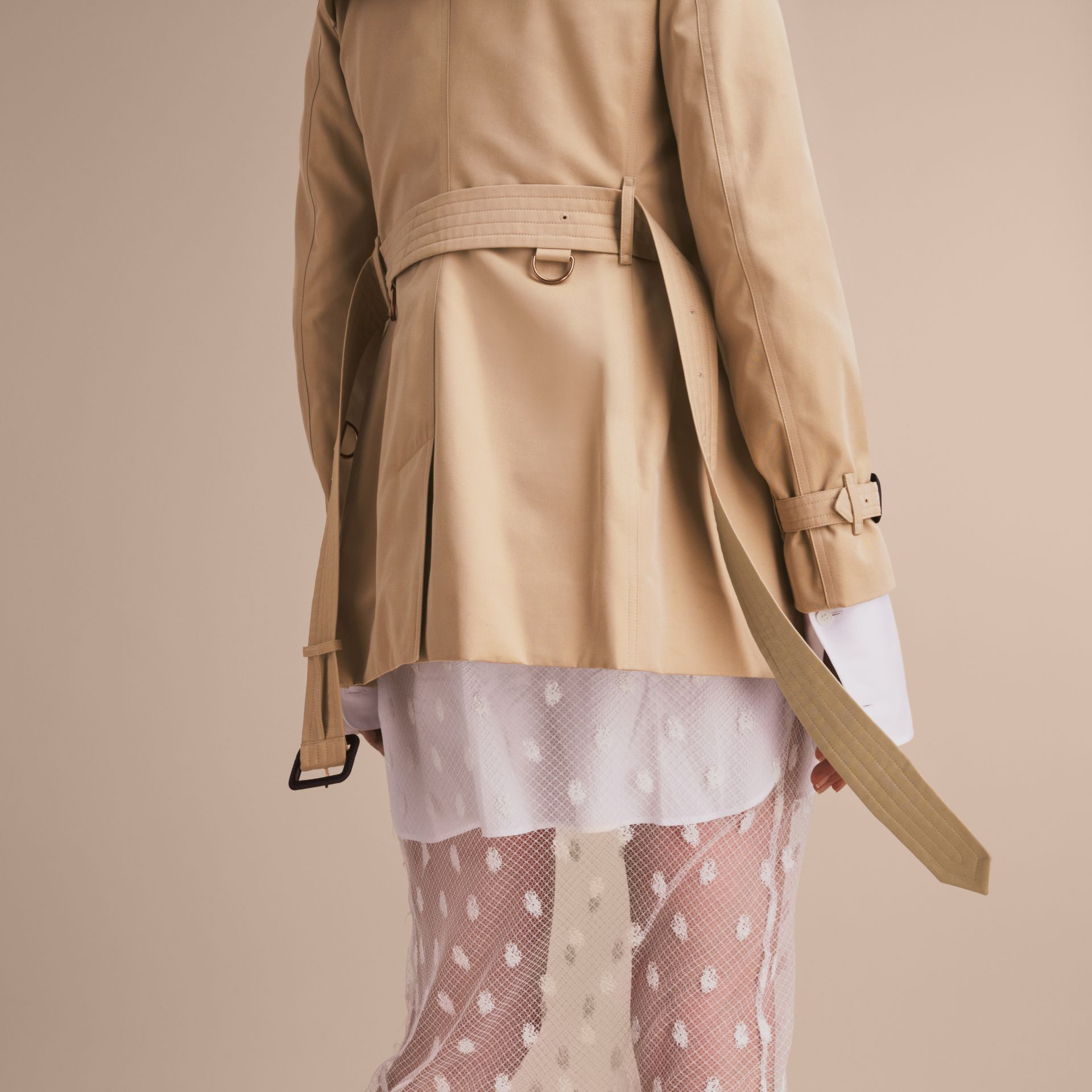 Honey The Kensington – Short Heritage Trench Coat Honey - gallery image 6