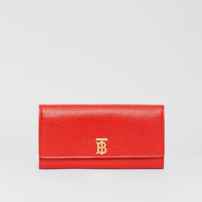 Monogram Motif Grainy Leather Continental Wallet by Burberry