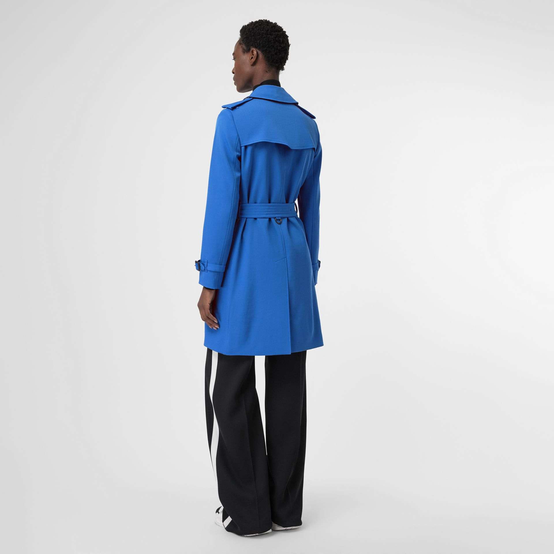 Wool Gabardine Trench Coat in Sky Blue - Women | Burberry United States - gallery image 2