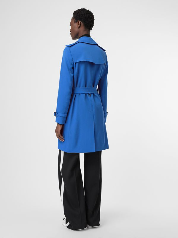 Wool Gabardine Trench Coat in Sky Blue - Women | Burberry United States - cell image 2