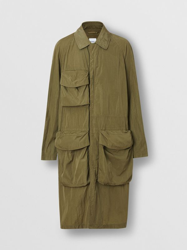 Pocket Detail Nylon Car Coat in Light Moss - Men | Burberry - cell image 3
