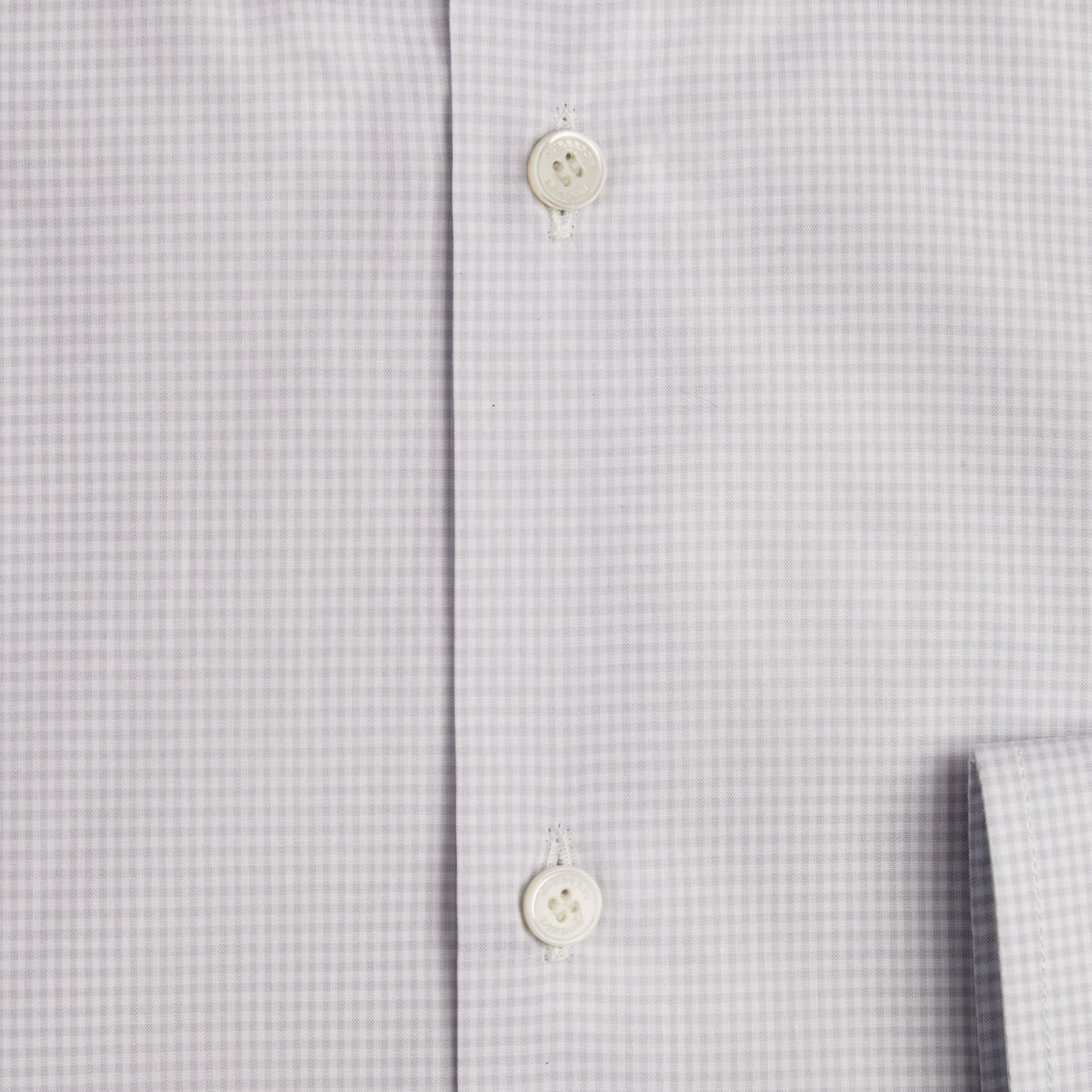 City grey Modern Fit Button-down Collar Gingham Cotton Shirt - gallery image 2