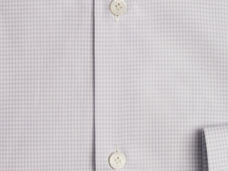 City grey Modern Fit Button-down Collar Gingham Cotton Shirt - cell image 1