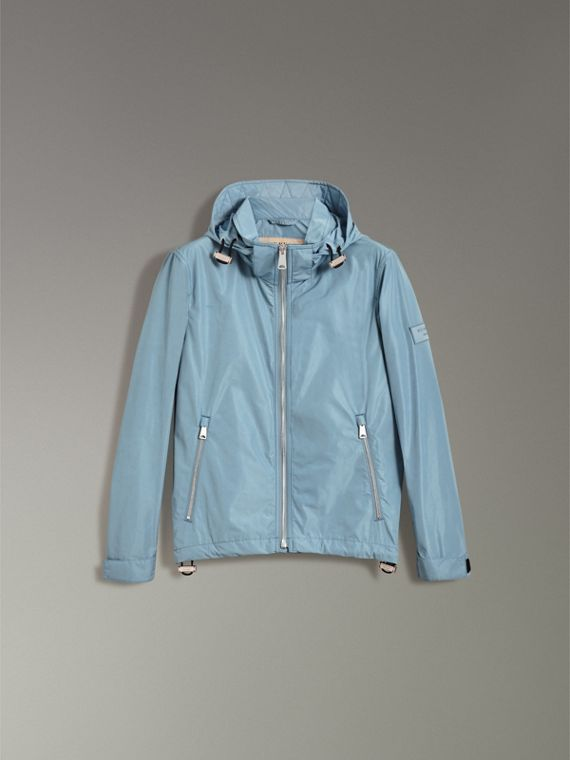 Packaway Hood Showerproof Jacket in Slate Blue - Men | Burberry Singapore - cell image 3