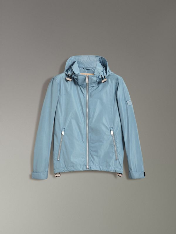 Packaway Hood Showerproof Jacket in Slate Blue - Men | Burberry United States - cell image 3