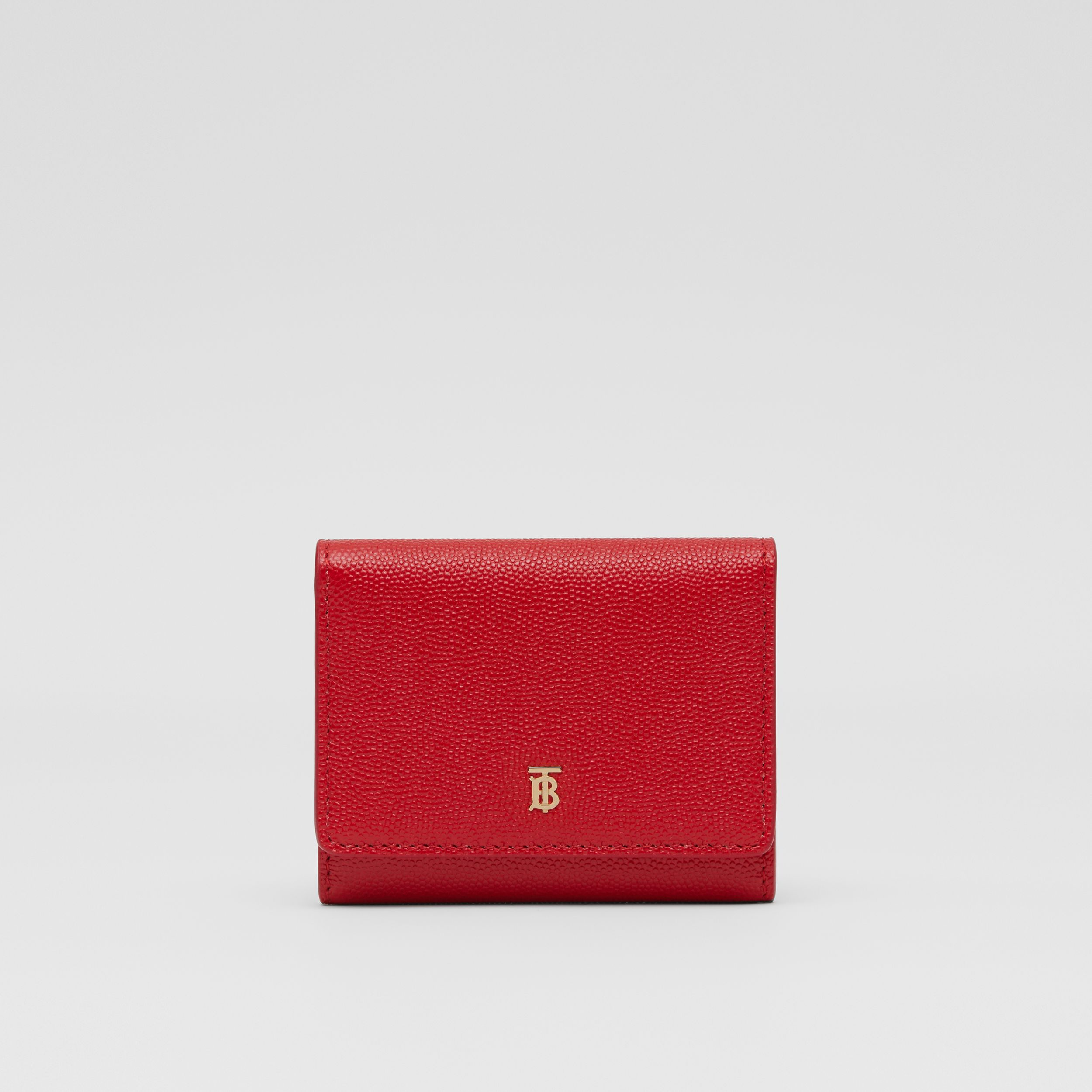 Grainy Leather ID Card Case in Bright Red - Women | Burberry - 1
