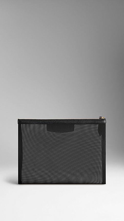 Black Large Mesh Beauty Wallet - Image 2
