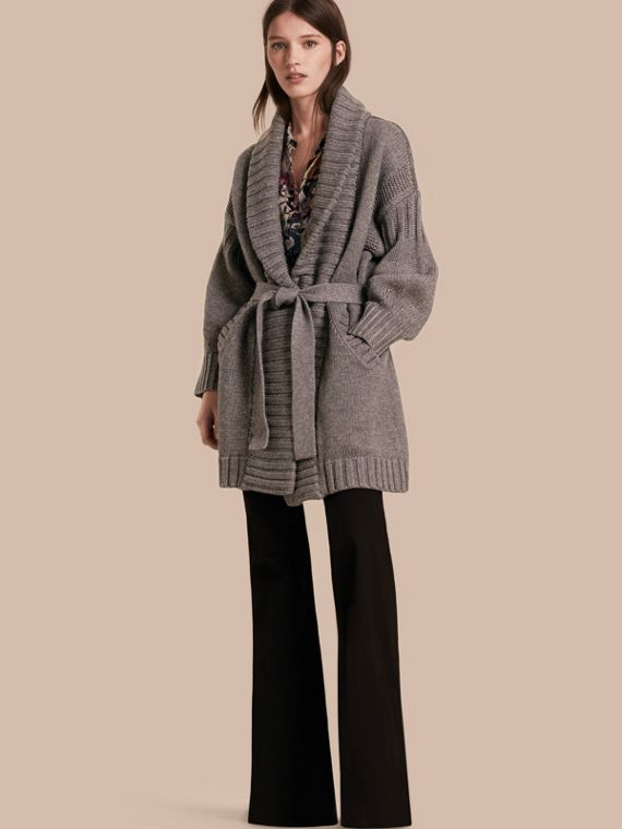 Wool Cashmere Wrap Cardigan Coat